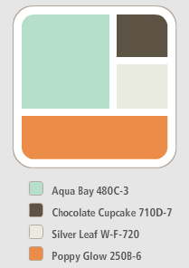 i want to paint wainscot that blueish color??? and i love the idea of a pop of orange somewhere.